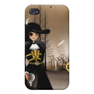 Steampunk Art iPhone Case Airship Pirate iPhone 4/4S Case