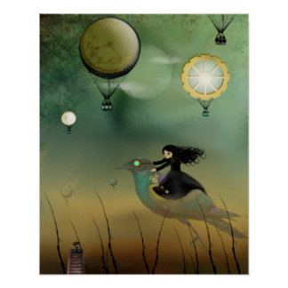 Steampunk Art Poster - Steampunk Flight