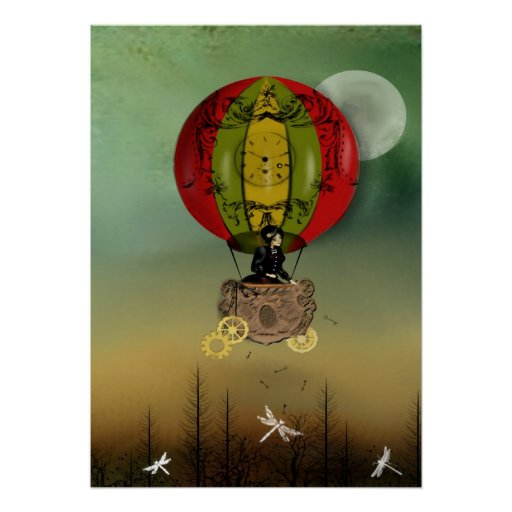 Steampunk Art Winds of Change Poster