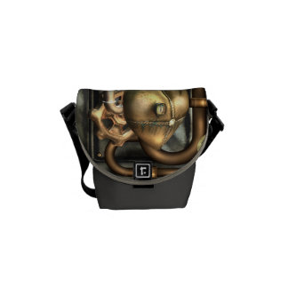 Steampunk At Heart Messenger Bags