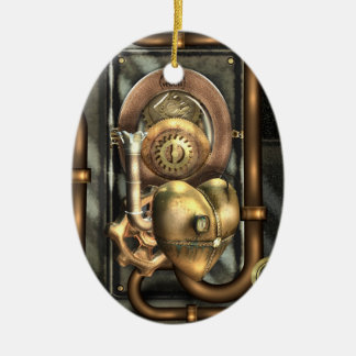 Steampunk At Heart Personalized Christmas Ornament
