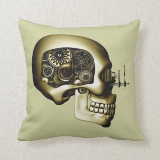 Steampunk Automaton 1D Throw Pillow