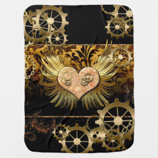 Steampunk, awesome heart buggy blankets