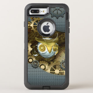 Steampunk, awesome   mechanical owl OtterBox defender iPhone 8 plus/7 plus case