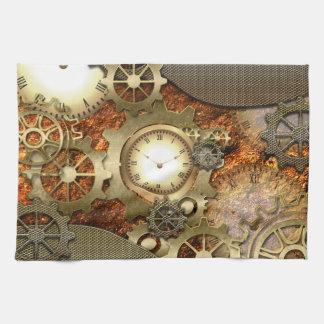 Steampunk, awesome steampunk design tea towel