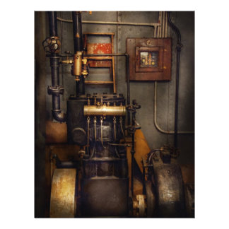 Steampunk - Back in the engine room 21.5 Cm X 28 Cm Flyer
