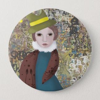 Steampunk Badge, Whimsical Badge, Girl Badge