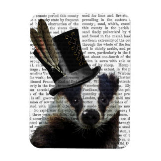 Steampunk Badger in Top Hat Magnet