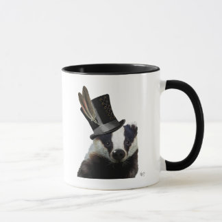 Steampunk Badger in Top Hat Mug