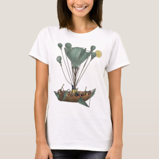 Steampunk Balloon Ship Flying Machine T-Shirt