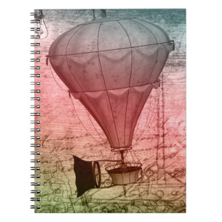 Steampunk balloon Sketch Hardcover Notebook