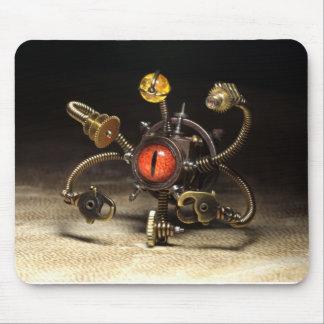 Steampunk Beholder Robot by Artist Daniel Proulx Mouse Mat