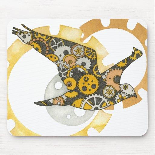 Steampunk Bird Mouse Pads