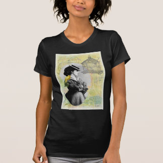 Steampunk Birdcage Victorian Lady Canary Tees