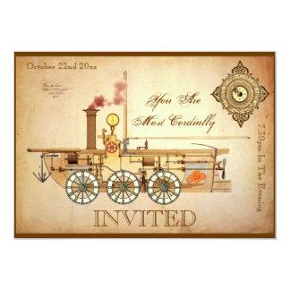 Steampunk Birthday Party Card