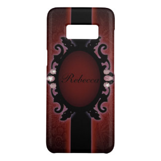 steampunk black and red gothic monogram Case-Mate samsung galaxy s8 case