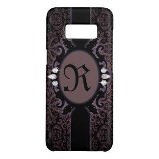 steampunk black plum purple gothic monogram Case-Mate samsung galaxy s8 case