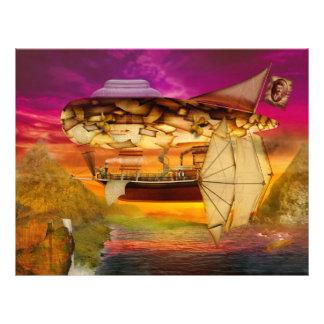 Steampunk - Blimp - Everlasting wonder Full Color Flyer