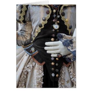 Steampunk bodice, Carnival, Venice Greeting Card