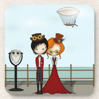 Steampunk Boy and Girl at the Seaside Coasters