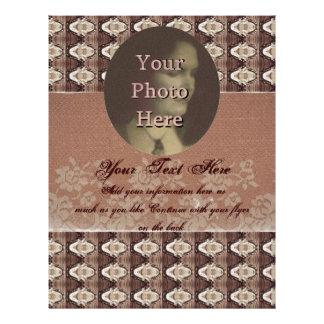 Steampunk Brass Lace Photo Flyer Design