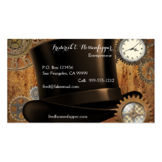 Steampunk Business Cards (Front and Back Design)