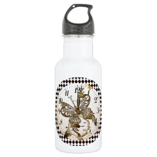 Steampunk Butterfly Round 532 Ml Water Bottle