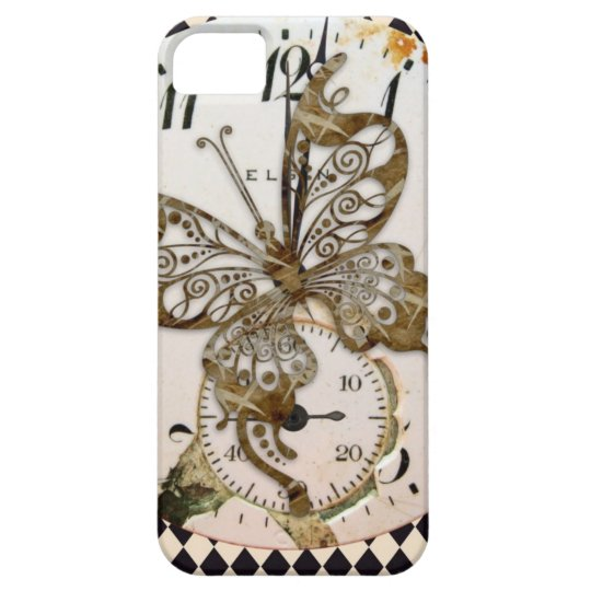 Steampunk Butterfly Round Case For The iPhone 5