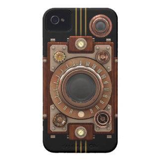 Steampunk Camera #1B (Black) iPhone 4 Cover