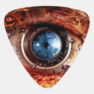 Steampunk Camera Eye Guitar Pick