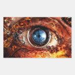 Steampunk Camera Eye Rectangle Sticker