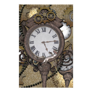 Steampunk  can you sea the funny gecko customised stationery