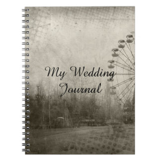 Steampunk Carnival Top Hat Wedding Journal Note Books