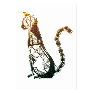 Steampunk cat business cards