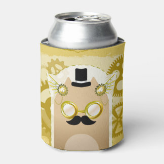 Steampunk Cat Can Cooler