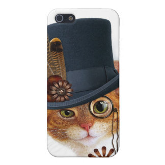 Steampunk Cat Case for iPhone Cover For iPhone 5/5S