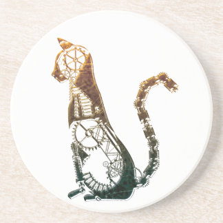 Steampunk cat coaster