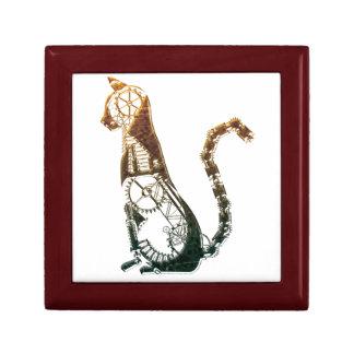 Steampunk cat giftbox gift box