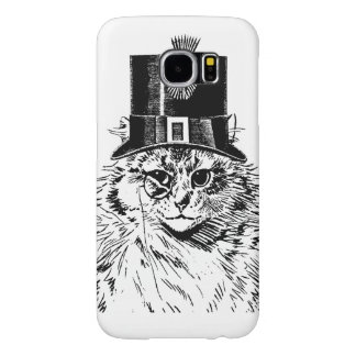Steampunk Cat Kitty in a Top Hat Samsung Galaxy S6 Cases