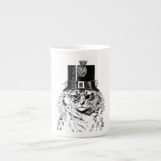 Steampunk Cat Mug, Kitty in Top Hat Tea Cup