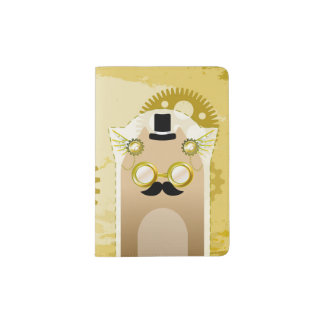 Steampunk+Cat Passport Holder