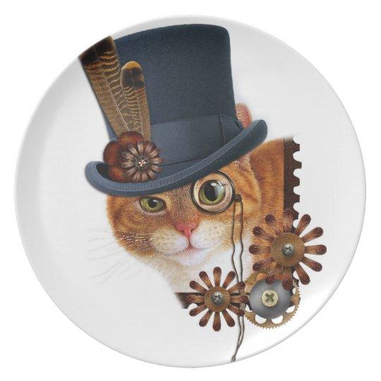 Steampunk Cat Plate