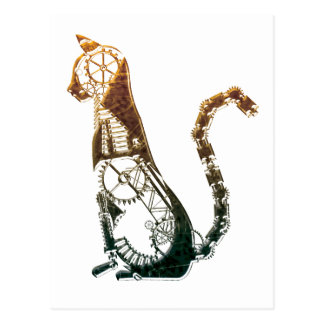 Steampunk cat postcards