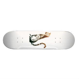 Steampunk cat skateboard