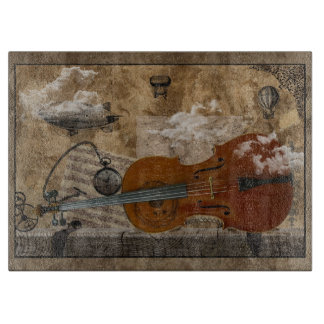 Steampunk Cello Cutting Board