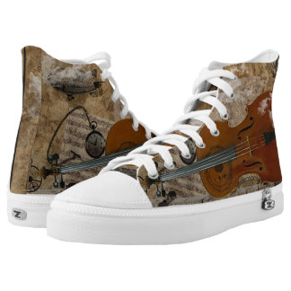Steampunk Cello Suite Printed Shoes