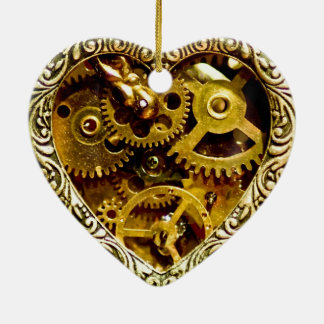 Steampunk Ceramic Heart Decoration