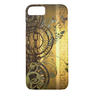 Steampunk Chains and Florals iPhone 8/7 Case
