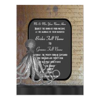 Steampunk chalkboard vintage style wedding 17 cm x 22 cm invitation card