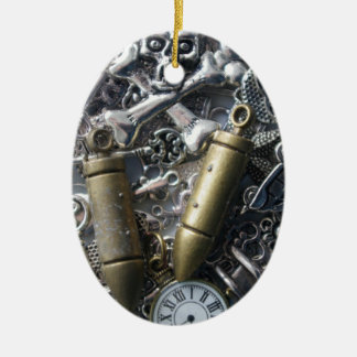 Steampunk charms christmas ornament